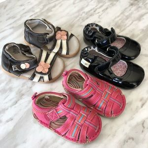 Baby Girls Robeez Little Soles Size 3 Lot of Shoes